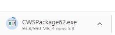 Command WorkStation Downloading File