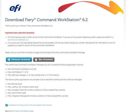 Command WorkStation Redirect Download Page