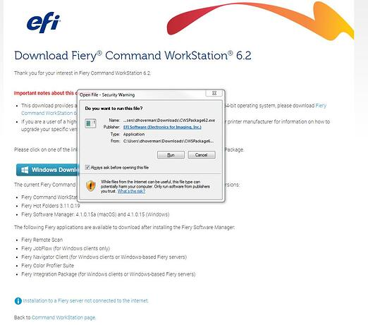 Command WorkStation Run Download